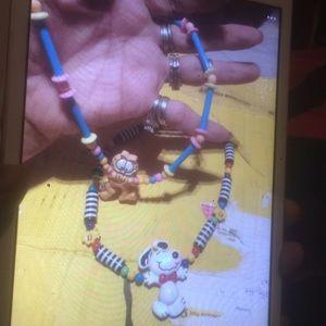 💵Vintage Garfield necklace
